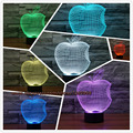 Lámpara de apple 3d visual night lights led táctil del cabrito del niño USB Mesa de Bebé para Dormir Dormitorio Iluminación Home Party Decor Cumpleaños regalos
