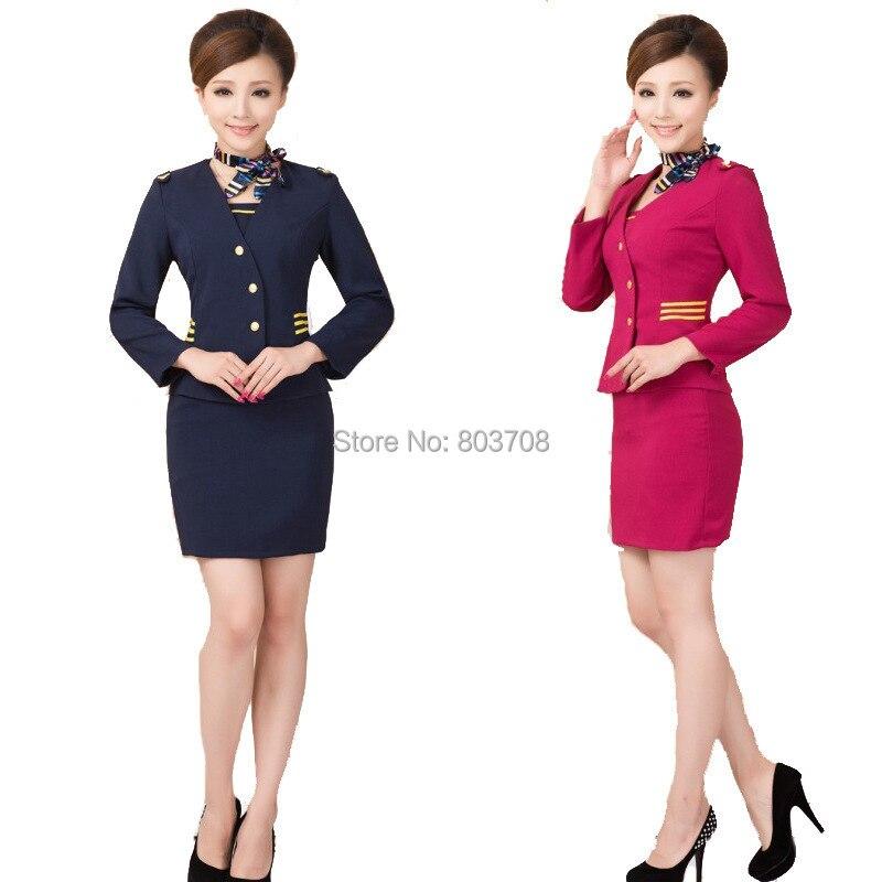 Stewardess uniforms clothing beautician uniforms hotel front desk