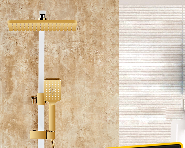 Senducs Digital Bathroom Shower Set Fashion White Gold Shower Series Quality Brass Bath Shower Faucet Temperature Senducs Digital Bathroom Shower Set Fashion White Gold Shower Series Quality Brass Bath Shower Faucet Temperature Shower Set