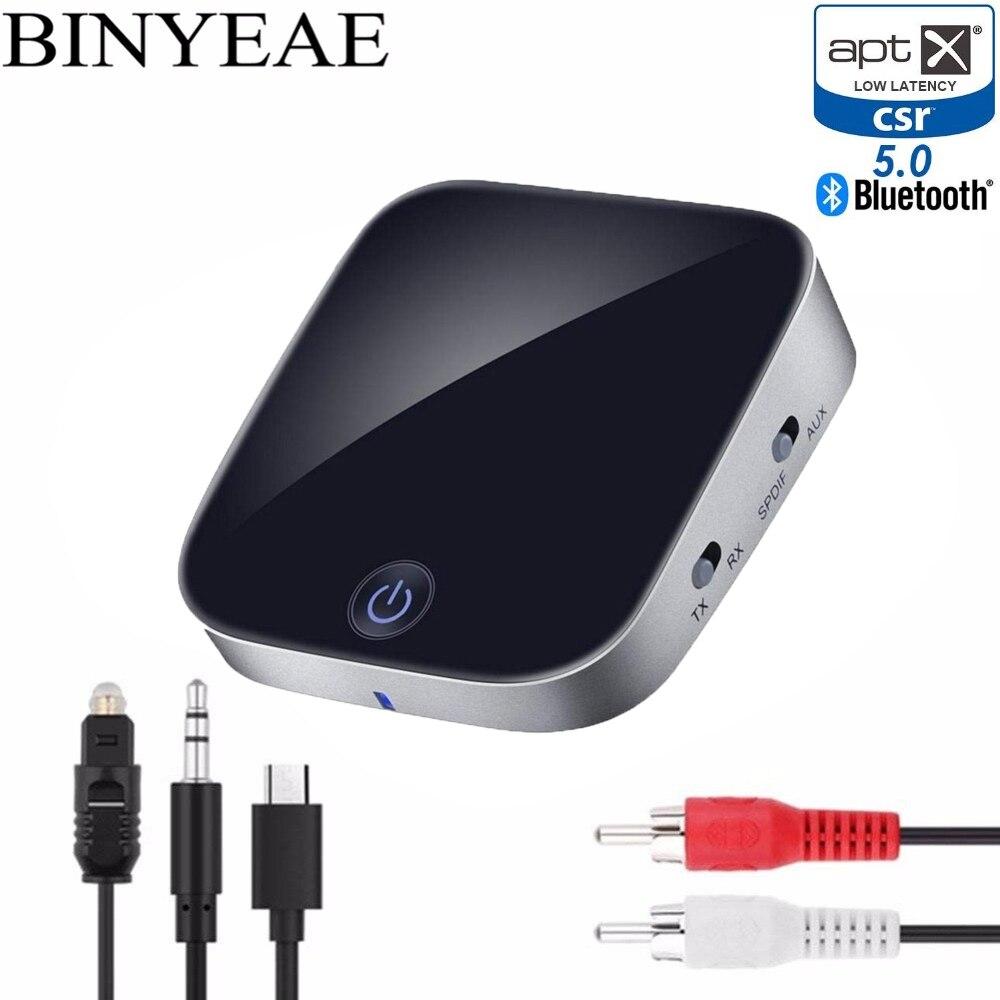 Tragbares Audio & Video Drahtlose Bluetooth 5,0 Aptx Niedrigen Latenz Musik Sender Empfänger A2dp Optische Spdif Rca Aux 3,5mm Stereo Home Audio Tv Adapter