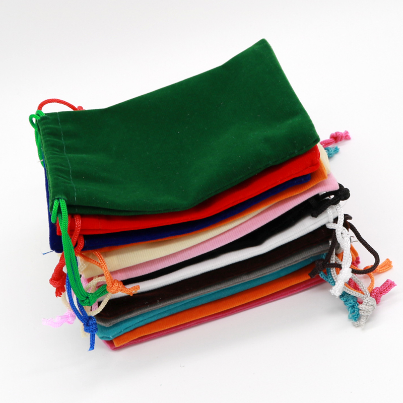 50pcs/lot Multi Colors Velvet Bag Pouch 5x7 7x9 9x12 15x20cm Charms Bracelet Jewelry Packaging Bags Wedding Decoration Gift Bag