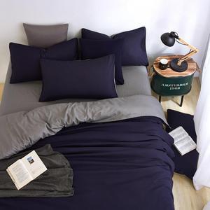 Image 1 - Conjunto de cama minimalista, jogo de cama de tinta azul e com fronha, fronha cinza, confortável e macia, queen, para o verão completo
