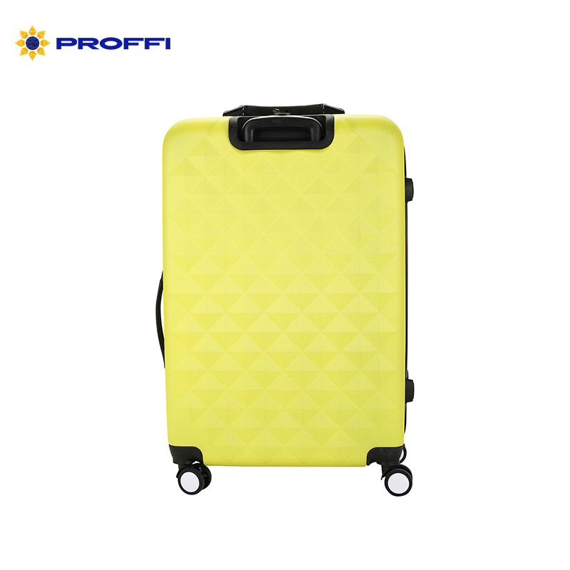 Bright yellow suitcase PROFFI TRAVEL PH8646 yellow L, plastic integrated weights, large a combination lock on wheels maitech 12v 5v universal four lights power supply high pressure integrated board yellow 15 22