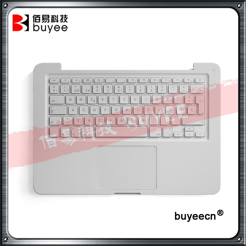 Original New A1342 Top case Spanish French Keyboard For Macbook Unibody 13 A1342 Palmrest Topcase Layout