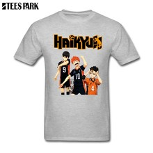 c185e6ec5118 Anime HaikyuuTobio Hinata and Nishinoya Hilarious T Shirts Man Crew Neck Tee  Shirt Hot Sale Men Future Cool T Shirts 2018