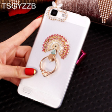 Phone Case For Huawei Honor 10 Lite 9 8 7X 6X 6A 5C Luxury Bling Ring Stand Clear Soft TPU Silicone Back Cover Nova 2