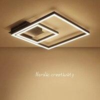 Современная Nordic площади светодиодный потолочный светильник офис исследование спальня поглощают свет купола