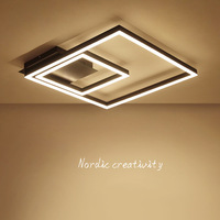 modern Nordic square led ceiling light office study bedroom absorb dome light
