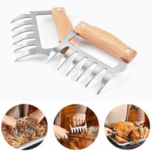 Stainless Barbecue BBQ Cooking Grill Bear Meat Shredding Claws Pulled Pork Steel for Tools