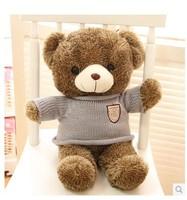 Stuffed animal Teddy bear stripes sweater teddy bear about 23 inch plush toy 60 cm bear throw pillow doll wb528