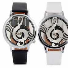 New style stylish lady treble clef double-sided hollow lady quartz watch