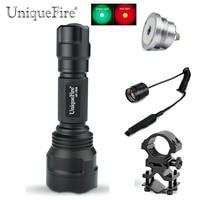 UniqueFire 1505 XP E Tactical Flashlight Kit: Flashlight, Remote Pressure, Scope Mount, Drop in IR 850 NM Led Pill