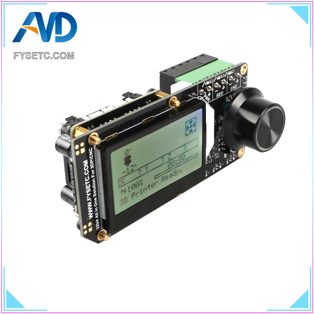 AIO II V3.2 Controller Board All In One II 32 Bit Mainboard MCU 32bit Onboard RGB Mini12864 LCD Support Marlin For 3DP/CNC