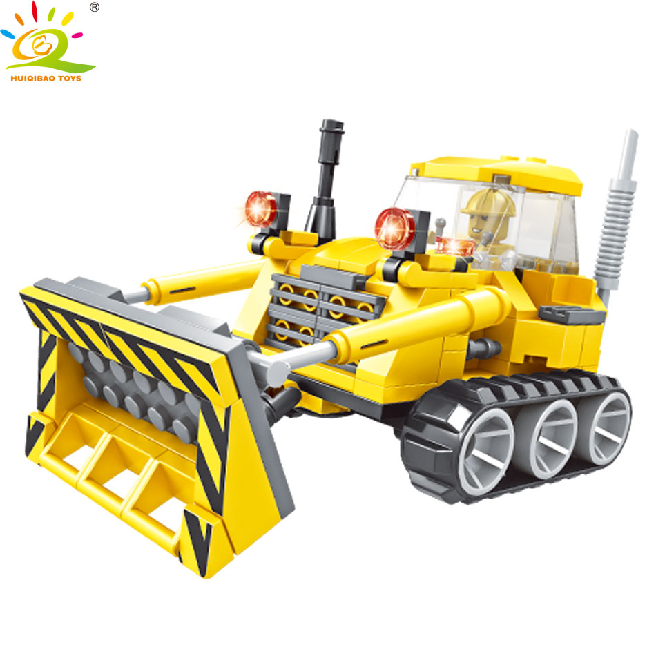 161pcs City Engineering Vehicle Bulldozer Building blocks Compatible legoed Construction Bricks Educational Toys For Children