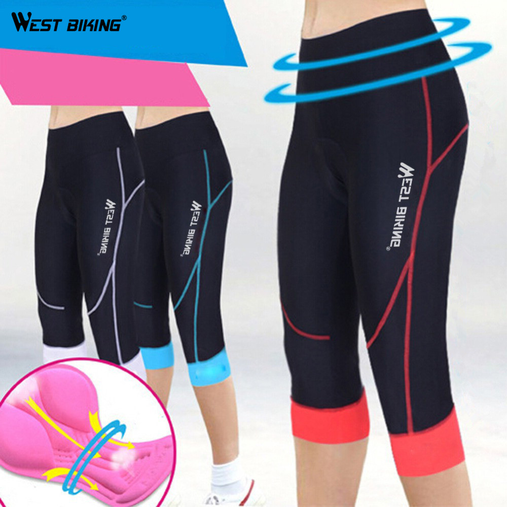 WEST BIKING GEL 3D Padded Elasticity Quick Dry Sport Wear Ciclismo Bicicleta Maillot Women Mountain Bike Bicycle Cycling Shorts lance sobike women cycling riding anti sweat quick dry shorts under wear bike bicycle 3d padded comfortable fitness underwear