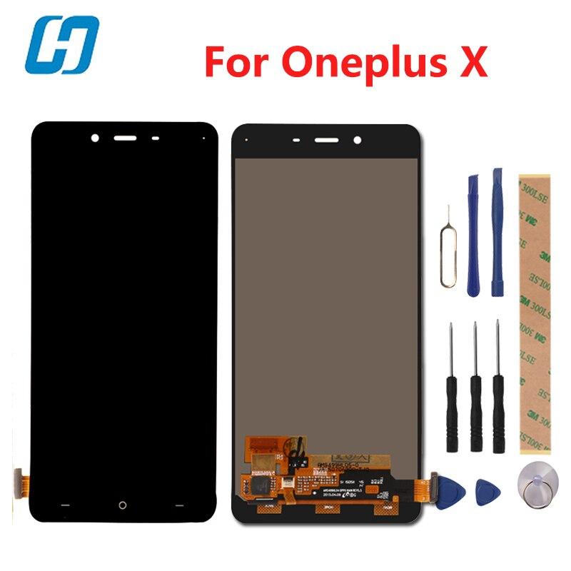 Hacrin Para Oneplus X Display LCD + Touch Screen 100% Novo digitador Painel De Vidro Para Oneplus X 1920x1080 FHD 5.0 inch Em estoque