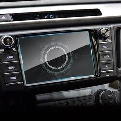 7 w nawigacja samochodowa gps ochronne szkło hartowane na ekran Film dla Citroen DS4 Toyota RAV4 Peugeot 307 Hyundai IX35 Veloster Chevrolet Cruze w Naklejki samochodowe od Samochody i motocykle na
