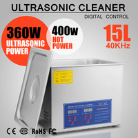 15 L ULTRASONIC CLEANER 760 W DIGITAL BRUSHED CLEANING TANK FOR PERSONAL USE FIRST CLASS