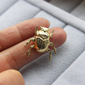 1Pc Vintage Cute Insect Beetle Brooch, Pins And Brooches For Women 5 Color of Fashion Jewelry Natural Love