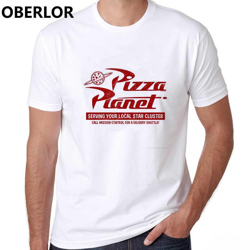 Pizza planeta brinquedo história restaurante camiseta algodão o-pescoço casual estilo coreano roupas harajuku streetwear anime engraçado dos homens t camisa