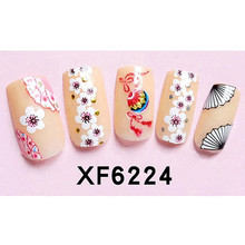 New Hot 1 Sheet Flazea 3D Nail Art Stickers With Back Gum For Polish Printing Manicure Creative Decals