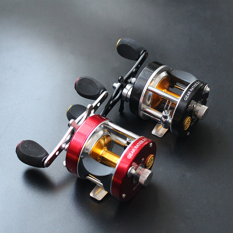 saltwater cast drum wheel baitcasting fishing reel 2 colors powerful drag centrifugal brake system 6BB 1RB