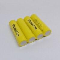 Masterfire Оптовая 100% оригинал LGDBHE41865 2500 мАч HE4 Батарея 18650 3.7 В питания электронные батареи 20A разряда для LG