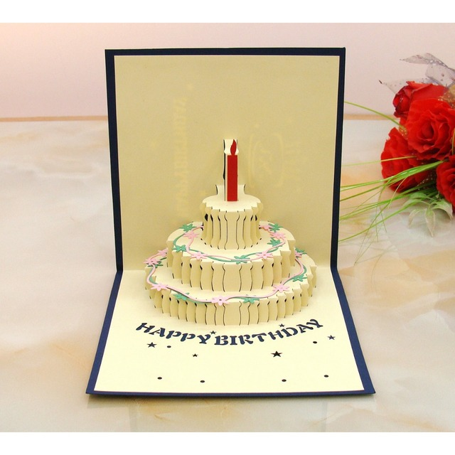 Color Birthday cake Greeting card Lovers Gift Full of new ideas Not