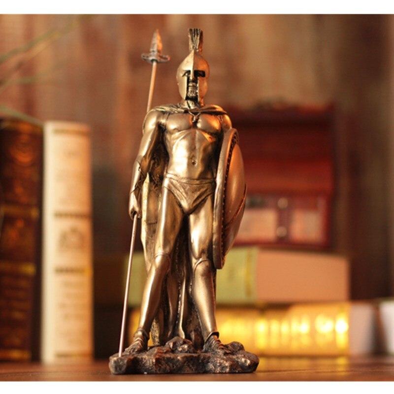 Armure de samouraï médiévale modèle rétro Rome armure guerrier créatif barre Ares Mars Loricae ornement restauration spartiate Statue Figure R05