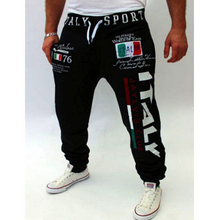 Men's Casual Leisure joggers Pants men Letter Print 3d printed Harem Pants Sweat sweatpants Male Trousers Male pantalon homme