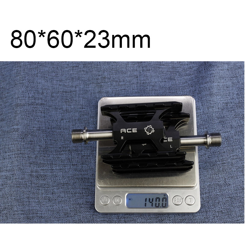 Ultra Lightweight CNC Pedals With Full Titanium Axles For Folding Brompton Bike 140g One Pair