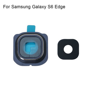 Image 2 - 1 set לסמסונג גלקסי S6 קצה אחורי מצלמה אחורית מסגרת מחזיק זכוכית עדשת החלפת חלקים