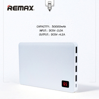 Remax 30000 Mah Mobile Phone Portable Charger Power Bank 4 USB Output Port External Battery For