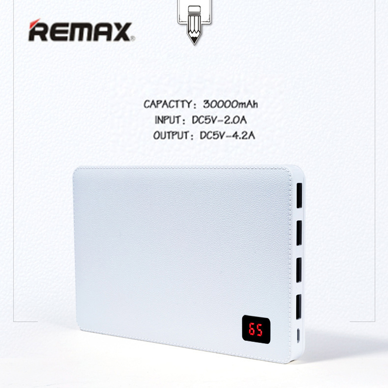 Remax 30000 mah téléphone Portable chargeur batterie externe 4 USB port de sortie batterie externe pour iphone 7 8 Pover bank universel