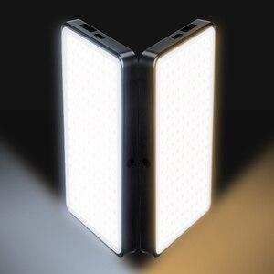 Image 5 - Cep Alüminyum Kısılabilir OLED Ekran 180 Adet LED Video Işığı ile Pil CRI96 + Iki Renk Vlog Dslr olarak Aputure AL MX Iwata