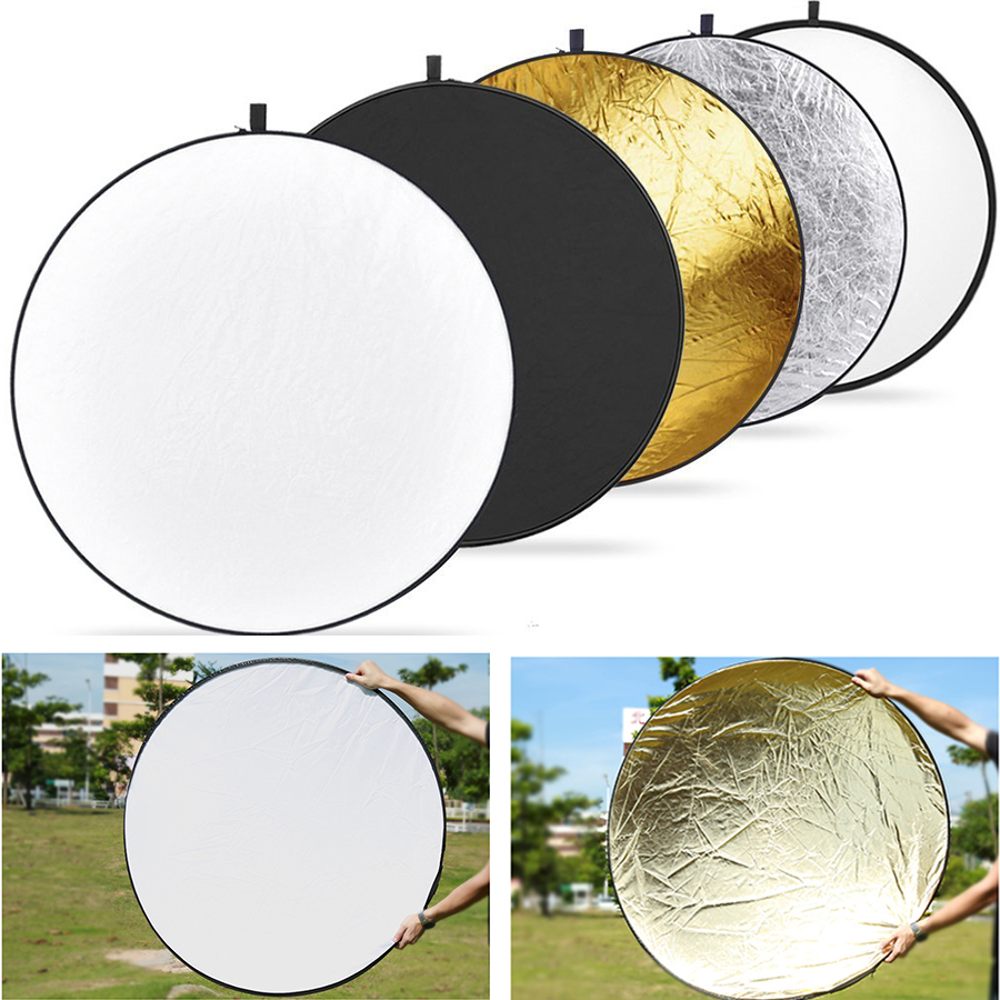 43 39 39 inch 110cm 5 in 1 portable foldable round studio photo collapsible multi disc light. Black Bedroom Furniture Sets. Home Design Ideas