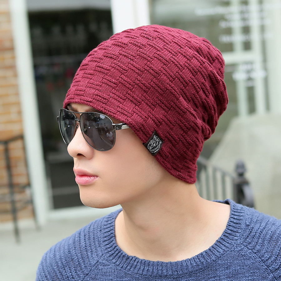 TETING New Arrival Men s Red Hat Cap Autumn Winter Outdoor Warm Baotou Hat  Riding Knit Wool Hats BJL-118 96f14e64519