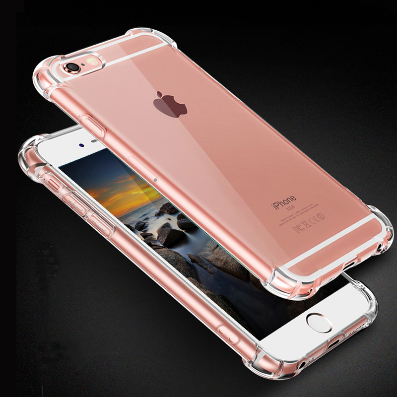 Elastic Force Gasbag Anti-Knock Phone Iphone X Case Transparent TPU Soft Cover For Iphone 7 8 6 6S Plus 5 5S Se