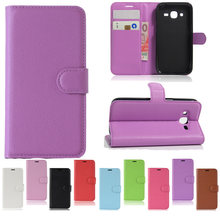 94ec241e6df Lizhi Flip PU Leather Wallet Case For Samsung Galaxy Core i8260 G3500 G3518  G355H G5108Q G530