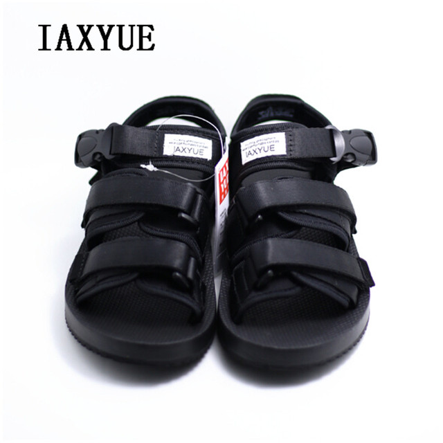 3f577843b83fb6 IAXYUE New summer travel sandals men s British adjustable beach shoes  outdoor non-slip large size 36-45 yards