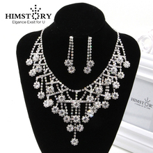 HIMSTORY Gorgeous Crystal Bridal Jewelry Sets Wedding Jewelry Wedding Accessories Including Necklace and Earrings q23sn6rmhsqdp q23cn6rmhsqdp 66967 including accessories