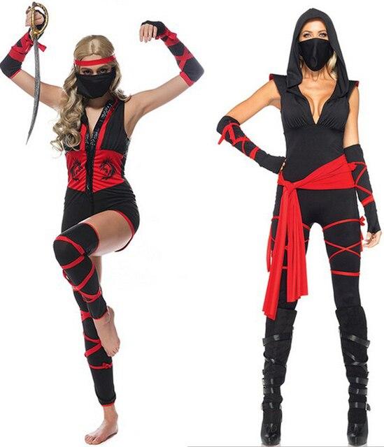 Sexy Mädchen Ninja Kostüm