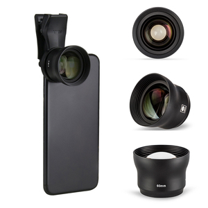 Image 2 - Sirui 60mm Telephoto Portrait Phone Lens 18MM Wide Angle HD 4K Mobile Lens for iPhone XS X 7 plus Huawei P20 Samsung S9 S8