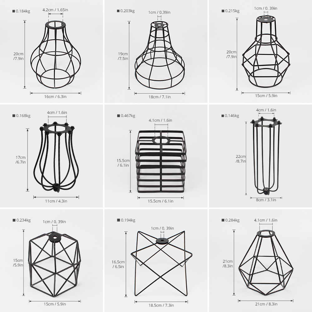 small resolution of  ascelina lampshade pendant light lamp shade loft diy metal cage bulb guard clamp wrought iron wall