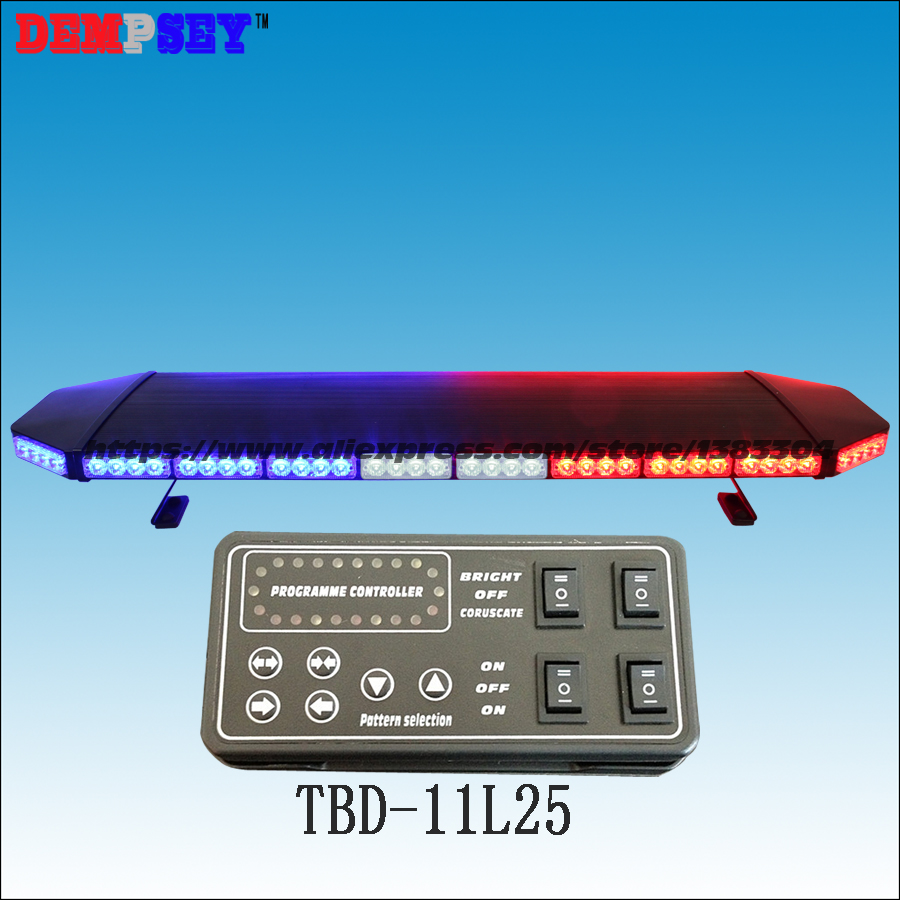 TBD-11L25 super bright 1.2M Red&Blue DC12V/24V Car Roof LED lightbar,emergency police Strobe Warning lightbar,black aluminum a975got tbd b a975got tba ch a975got tbd ch touch pad