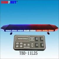 Tbd 11l25 супер яркий 1.2 м красный и синий DC12V/24 В крыше автомобиля светодиодный световой, аварийного полиции strobe Предупреждение световой, черный