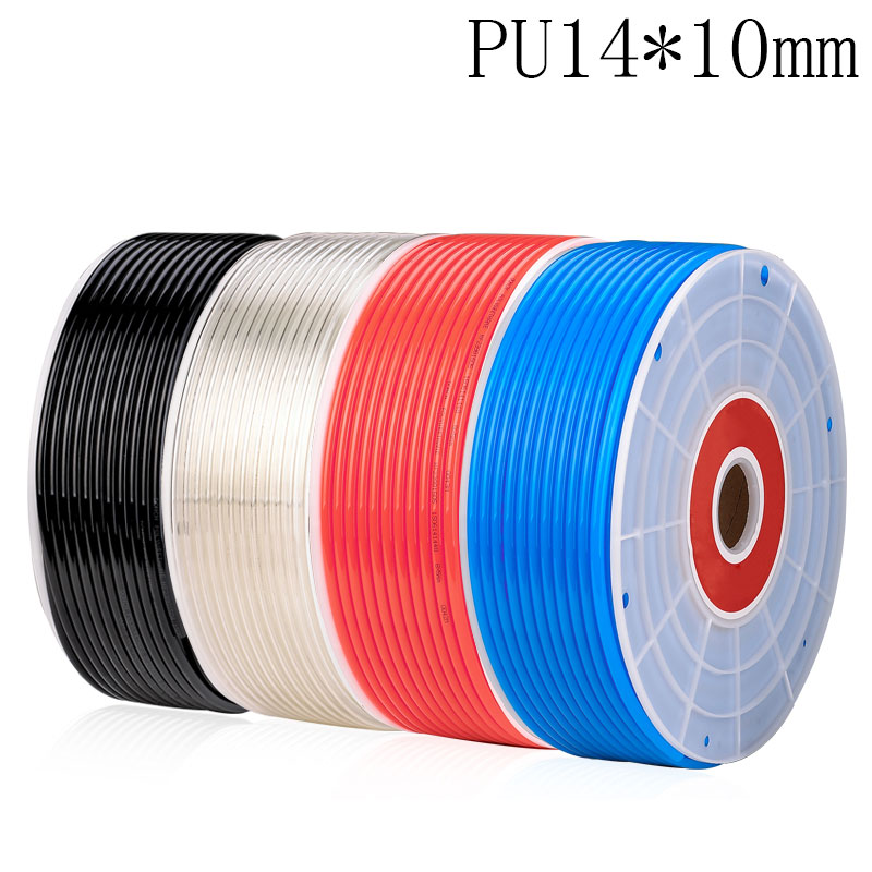 5 meter PU14*10mm Pneumatic Hose PU Tube OD 14mm ID 10mm Plastic Flexible Pipe Polyurethane Tubing 1meter transparent food grade medical use fda silicone rubber flexible tube hose pipe tubing