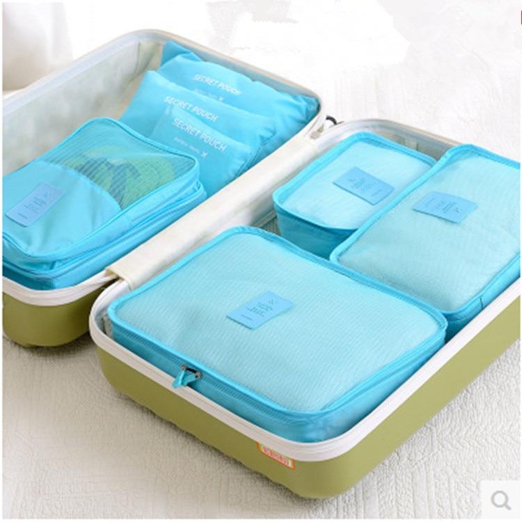 6pcs / set reisartikelen opslagproducten reisbagage kleding netentas - Home opslag en organisatie