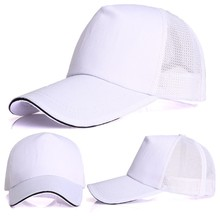 Women Men Unisex Baseball Cap Trucker Hat Blank Curved Visor Adjustable Plain(China)