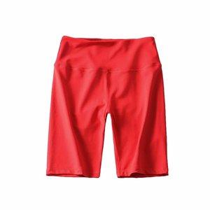 Image 4 - 夏ネオングリーンハイウエストショーツ女性ストレッチ弾性汗ピンク白黒バイカーパンツ赤ヴィンテージ女性ショートfeminino